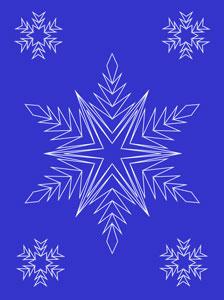 Snowflakes pattern at String Art Fun website